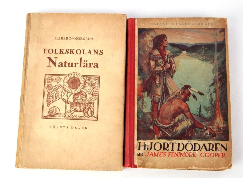 DEERSLAYER & NATURAL HISTORY SWEDISH EDITIONS 1945