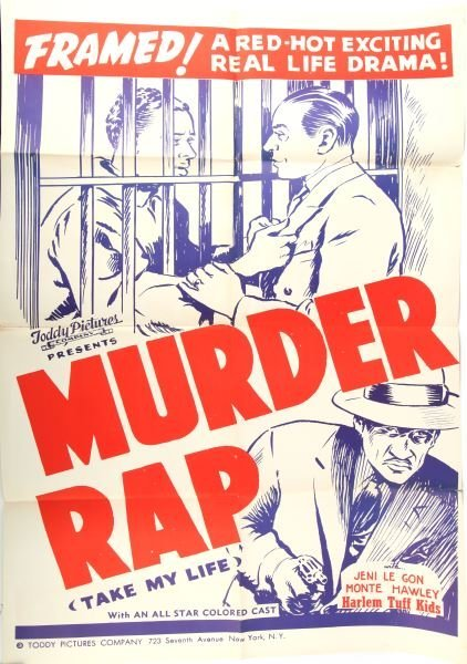 MURDER RAP TODDY PICTURE COLORED CAST MOVIE POSTER