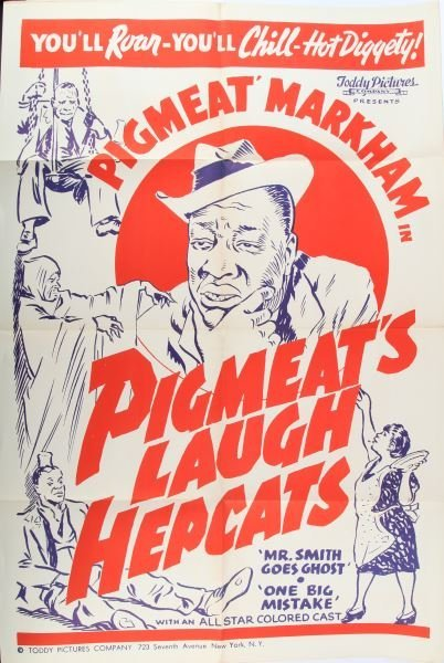 PIGMEAT MARKHAM ORIGINAL COLORED CAST MOVIE POSTER