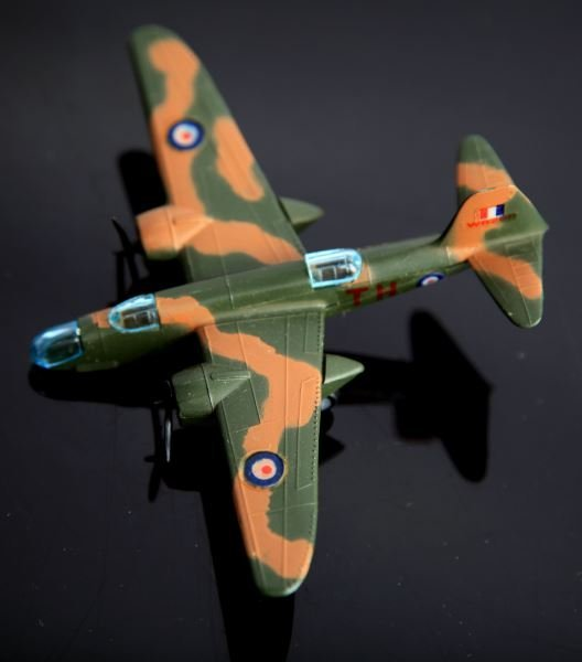 4 LINTOY METAL TOY PLANES SPITFIRE & BOSTON HAVOC - 2