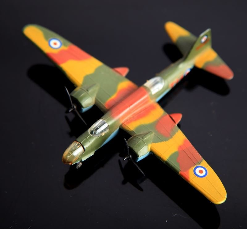 4 LINTOY METAL TOY PLANES SPITFIRE & BOSTON HAVOC - 4