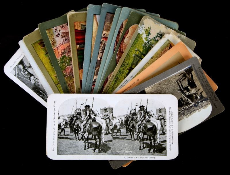 15 ANTIQUE SOUTH NORTHWEST  INDIAN STEREOVIEW LOT