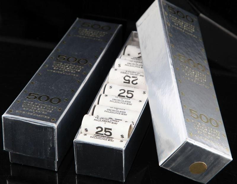 LOT OF 2 BRICKS OF 2006-D JEFFERSON 500 NICKELS