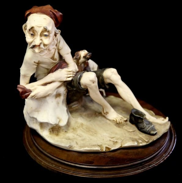ARMANI CAPODIMONTE EARLY OLD MAN AND DOG