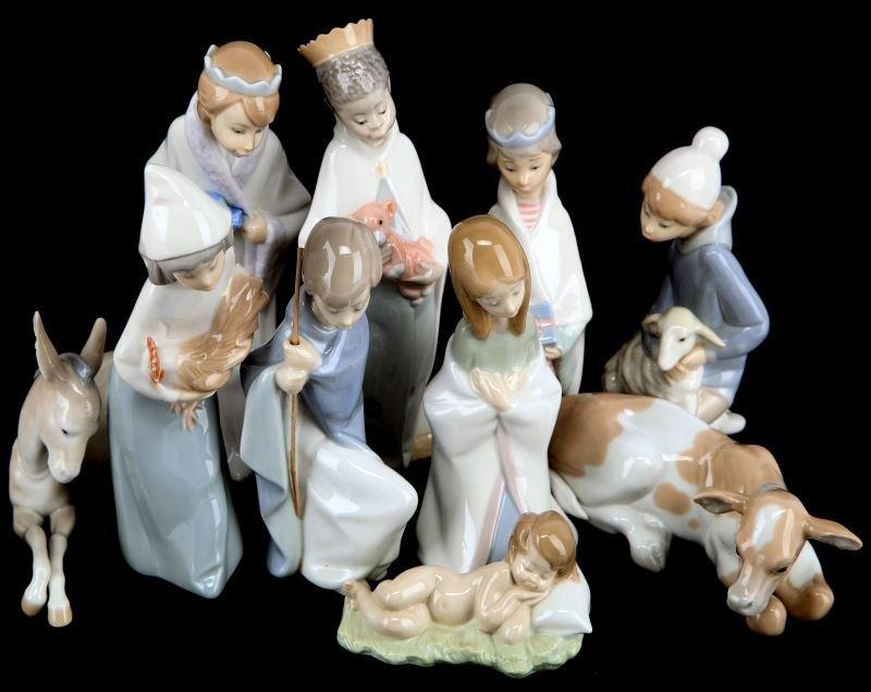 LLADRO CHRISTMAS NATIVITY RETIRED LOT OF 10