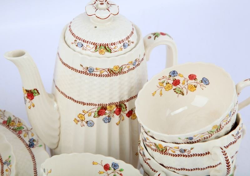 VINTAGE SPODE COWSLIP CHINA SETTING FOR 4 AND MORE - 2
