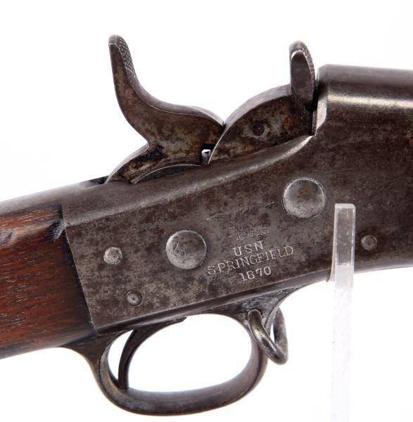 SPRINGFIELD MODEL 1870 ROLLING BLOCK US NAVY RIFLE - 2