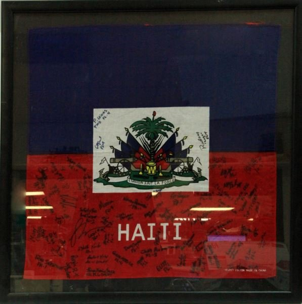 2010 HATIAN EARTHQUAKE RELIEF SIGNED FLAG