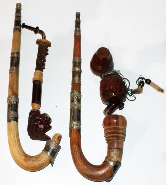 3 VINTAGE GERMAN SMOKING PIPE LOT