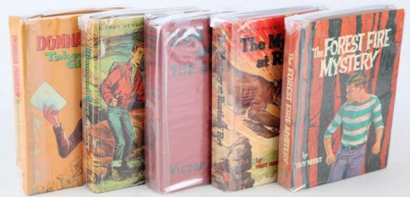 MIXED GROUP OF VINTAGE FICTION BOOKS TROY NESBIT
