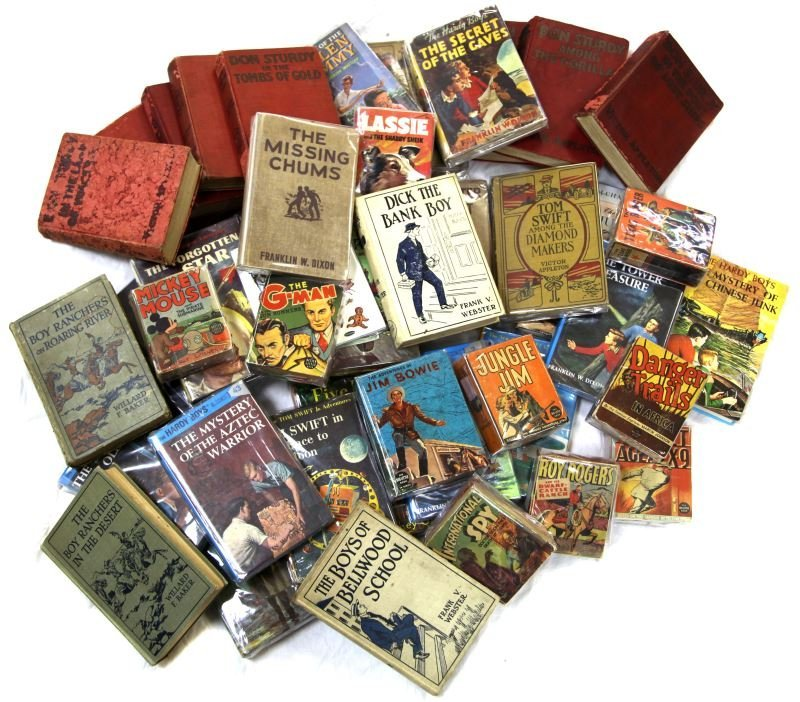 UNSEARCHED LOT OF 25+ VINTAGE FICTION BOOKS