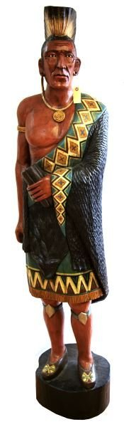 CIGAR STORE INDIAN LIFESIZE ADVERTISING 74 INCHES