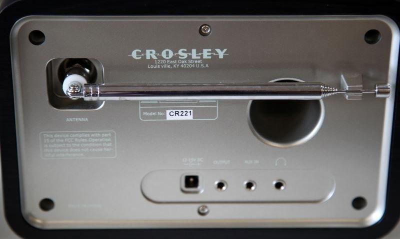 CROSLEY SOLO RADIO CR221 (BLACK) MP3 READY - 3