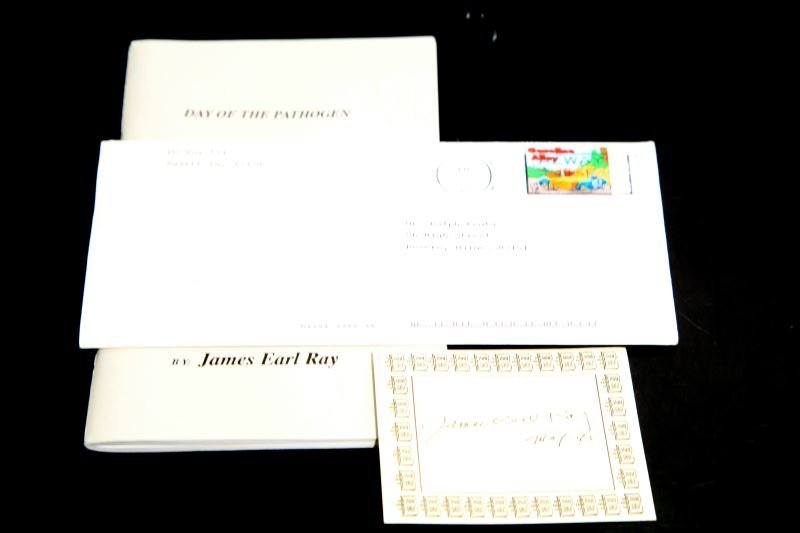 JAMES EARL RAY SIGNED LETTER BOOK AND EPHEMERA