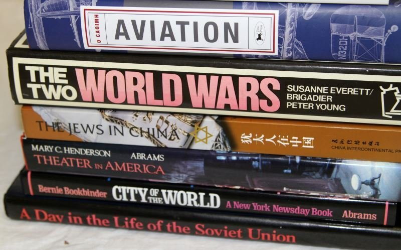 LOT OF 11 ASSORTED BOOKS JEWS IN CHINA AVIATION