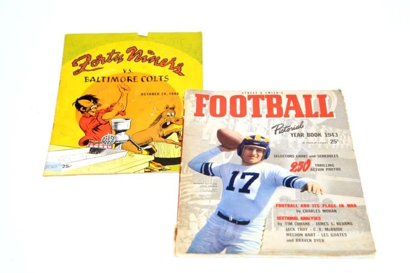 1943 STREETS & 1948 FORTY NINERS FOOTBALL PROGRAMS