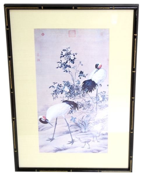 CHINESE SILK PAINTING HANGING SCROLL