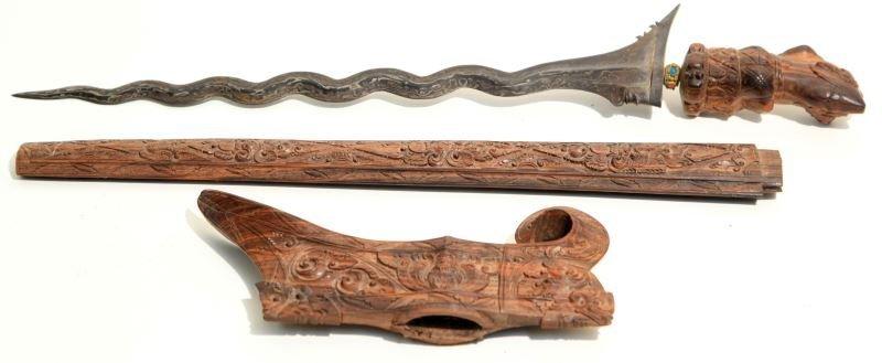 ANTIQUE KRIS KERIS KNIFE BARONG SWORD BALI MALAYA