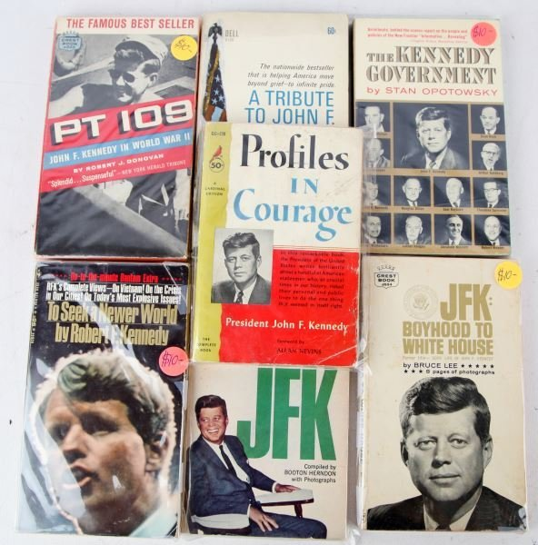 MIXED GROUPING OF BOOKS ABOUT THE KENNEDY FAMILY