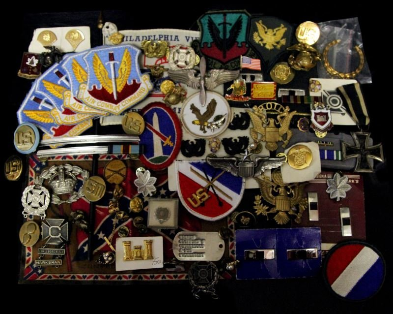 USMC AAF ARMY INSIGNIA WINGS BADGE & PATCH LOT