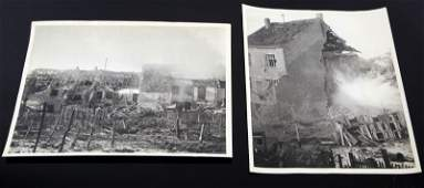 2 WWII US SIGNAL CORPS PHOTOGRAPHS OF EXPLOSIONS