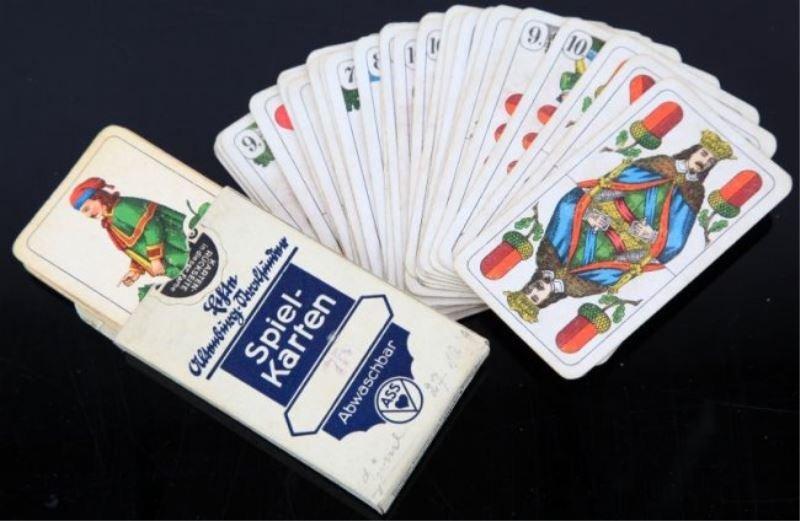 WWII GERMAN SKAT 32 CARD DECK LOT OF 2