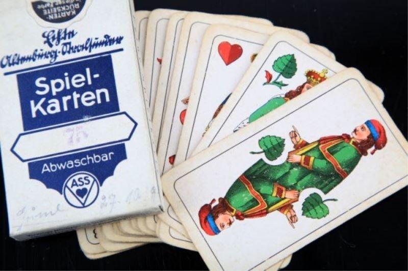 WWII GERMAN SKAT 32 CARD DECK LOT OF 2 - 3