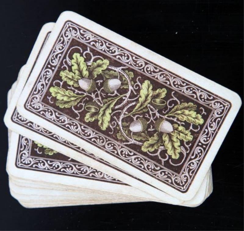 WWII GERMAN SKAT 32 CARD DECK LOT OF 2 - 4