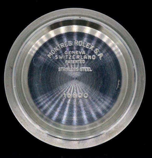 VINTAGE ROLEX 16800 SUBMARINER CASE BACK