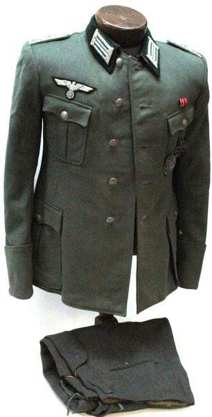 WWII GERMAN PANZER GRENADIER 62ND OFFICERS UNIFORM
