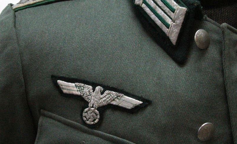 WWII GERMAN PANZER GRENADIER 62ND OFFICERS UNIFORM - 2