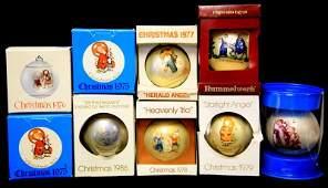 VINTAGE SCHMID HUMMEL CHRISTMAS ORNAMENTS