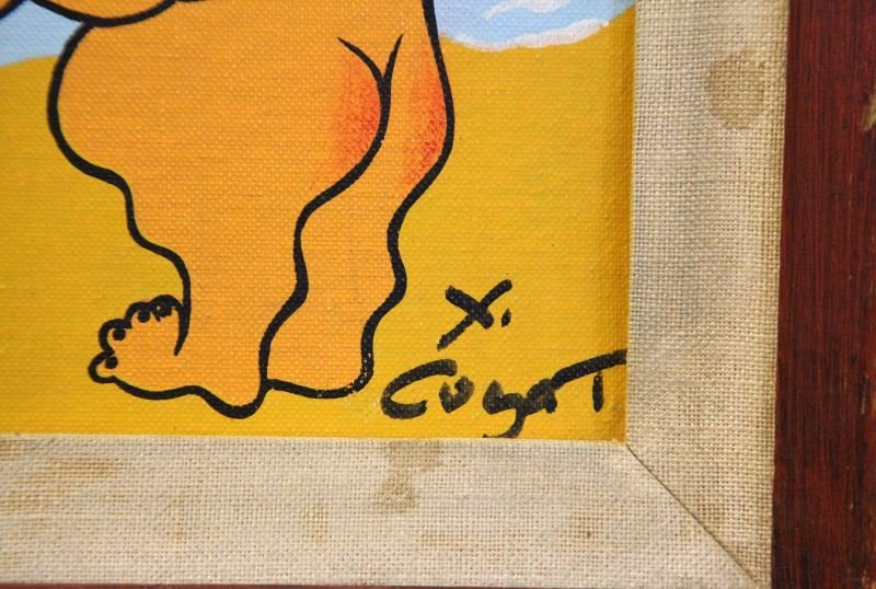 XAVIER CUGAT MAKE LOVE NOT WAR OIL PAINTING - 3