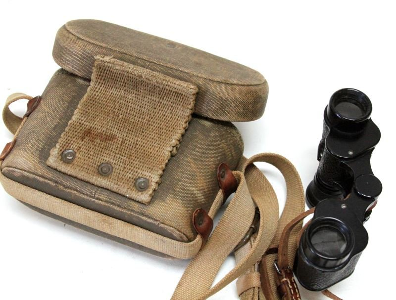 JAPANESE WWII YAMATO MILITARY BINOCULARS WITH CASE - 3