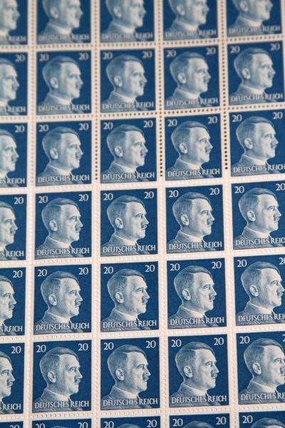FOUR UNCUT SHEETS OF ADOLF HITLER STAMPS - 2