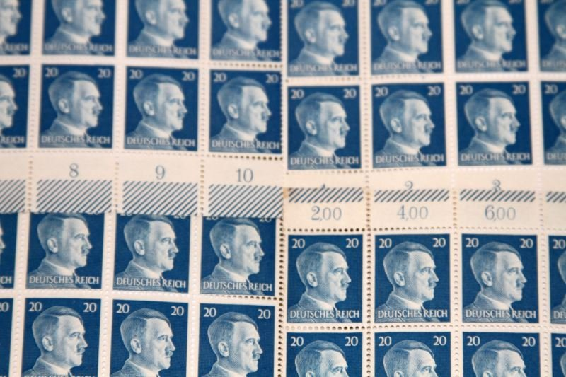 FOUR UNCUT SHEETS OF ADOLF HITLER STAMPS - 3