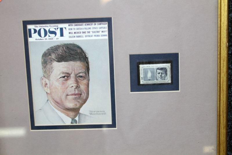 JFK COLLECTIBLES FRAMED WITH COMMEM HALF DOLLARS - 2