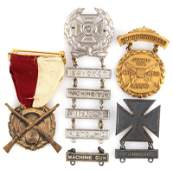 ANTIQUE & VINTAGE SHARPSHOOTERS MEDALS SOME SILVER