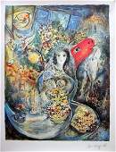 BELLA LITHOGRAPH BY MARC CHAGALL FRENCH PAINTER