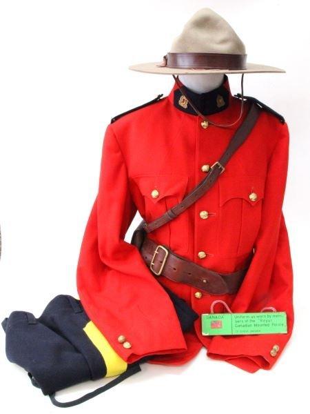 RCMP ROYAL CANADIAN MOUNTED POLICE FULL UNIFORM