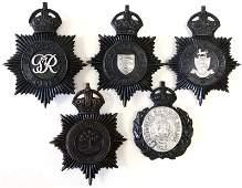 5 ENGLAND POLICE BOBBY HELMET BADGES KINGS CROWN