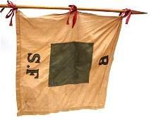 SPANISH AMERICAN WAR REGIMENTAL FLAG GUIDON B S.F