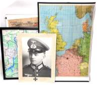 COLLECTION OF WWII ALLIED  GERMAN MAPS NEWSPAPER