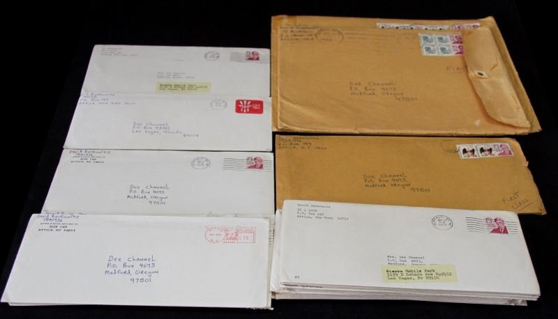 GROUPING OF LETTERS FROM SON OF SAM SERIAL KILLER