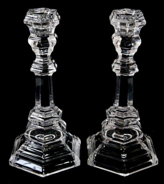 PAIR TIFFANY & CO. PLYMOUTH 8 INCH CANDLESTICKS