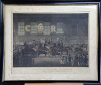 19TH CENTURY ENGRAVING OF ROYAL MAILS AT ANGEL INN