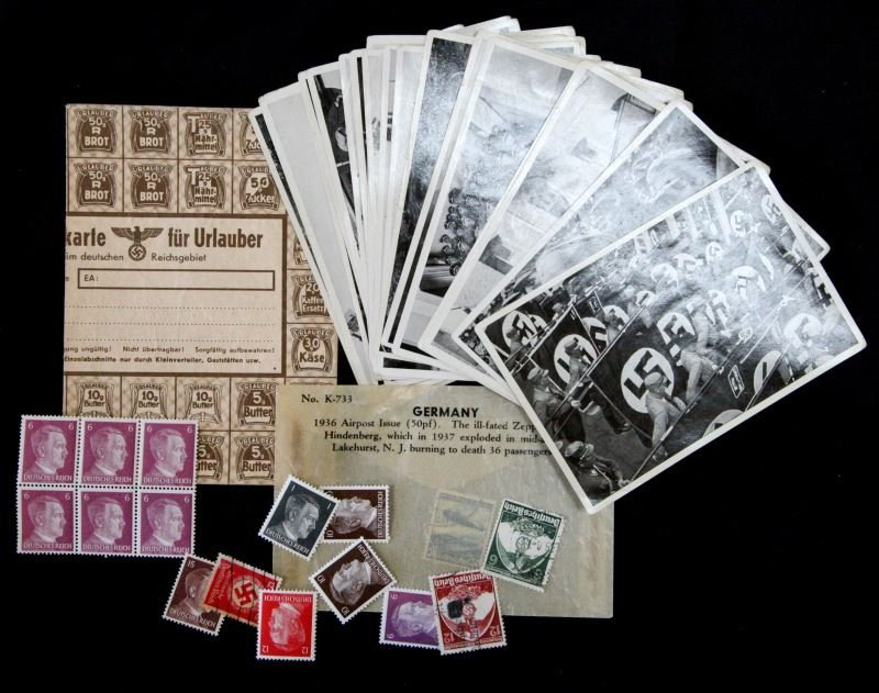 WWII GERMAN THIRD REICH CIGARETTE CARDS STAMPS