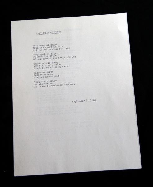 THREE POEMS WRITTEN BY DAVID BERKOWITZ SON OF SAM