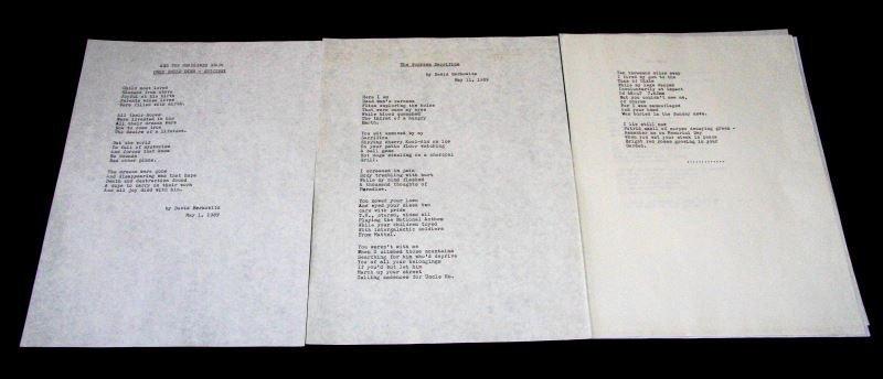 FOUR POEMS WRITTEN BY SERIAL KILLER SON OF SAM