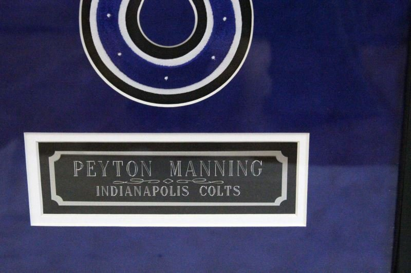FRAMED PEYTON MANNING AUTOGRAPHED PICTURE W/ COA - 3